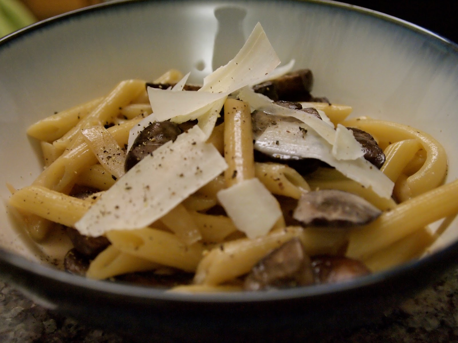 Pasta With Whiskey, Wine, And Mushrooms Recipe — Dishmaps