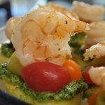 Shrimp and Pesto Polenta Crostinis