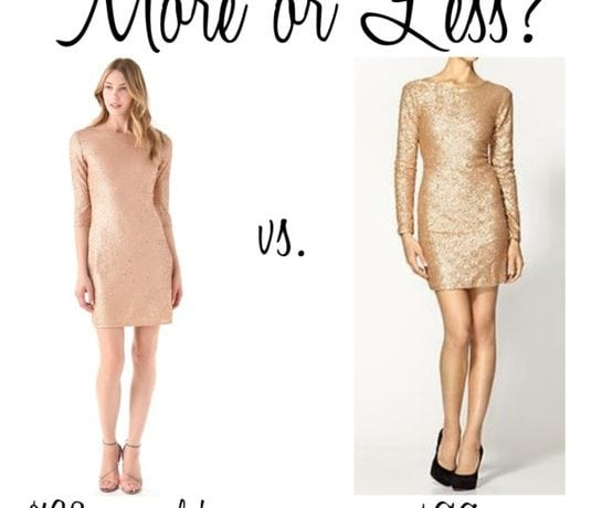 More or Less? {Party Dresses}