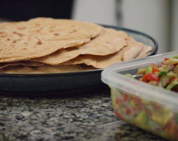 Lemony Salmon and Avocado Salsa Tacos!