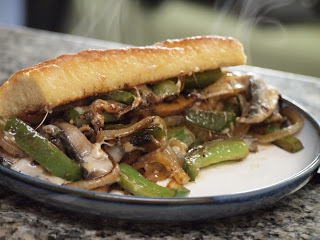 Portobello Mushroom Cheesesteak