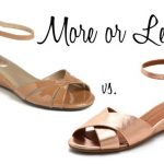 More or Less? Demi Wedge Sandals