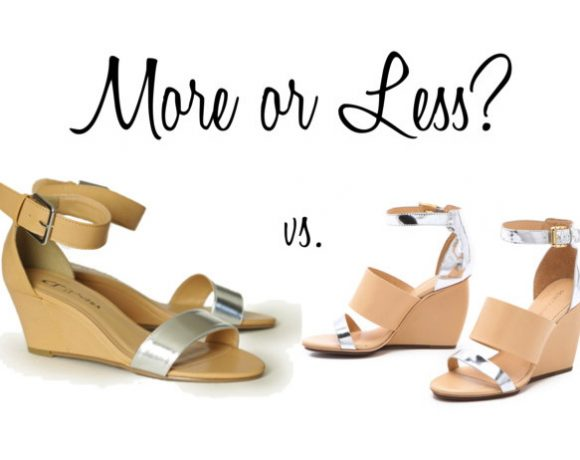 More or Less? Metallic and Nude Wedges