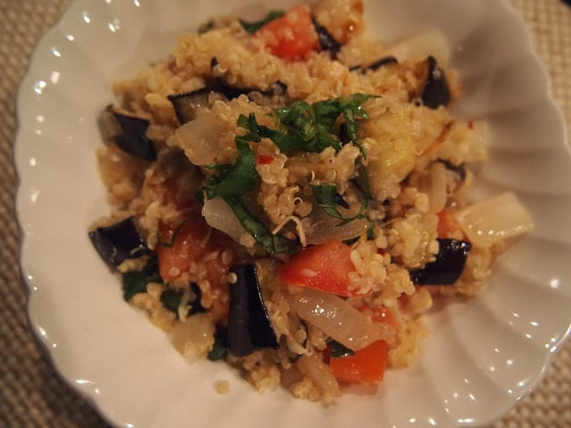 Quinoa Salad with Roasted Eggplant - Lake Shore Lady