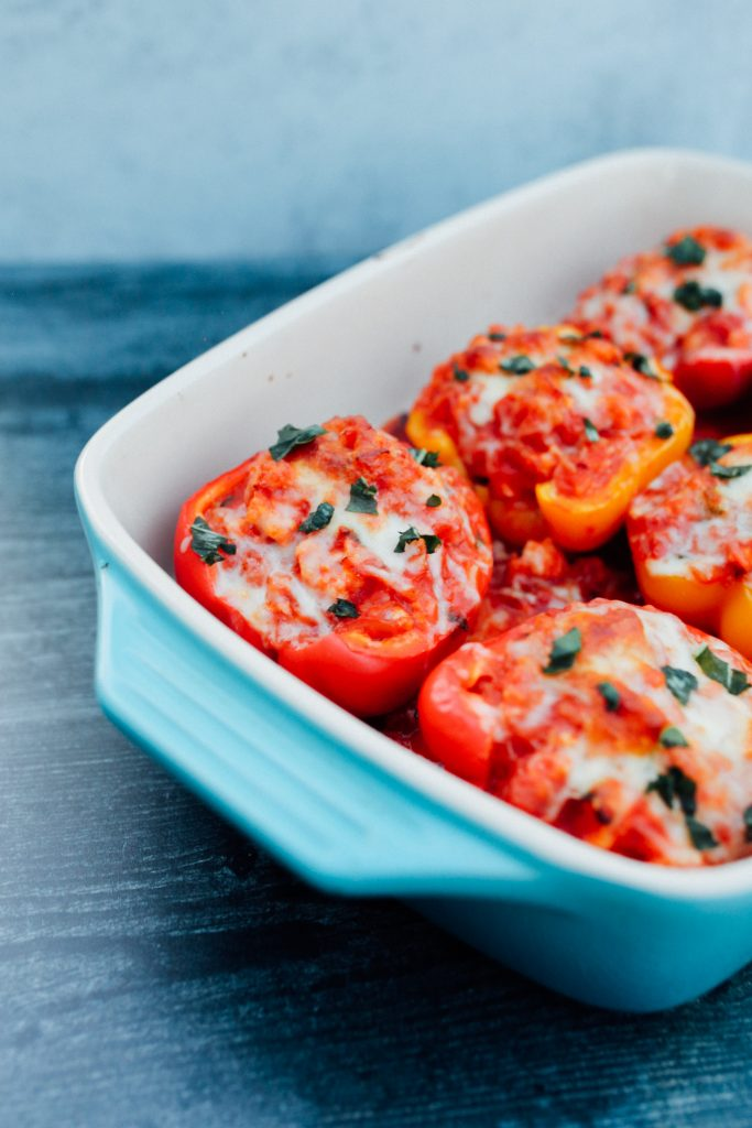 ground turkey stuffed peppers