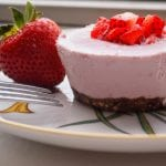 Strawberry Vegan Cheesecakes