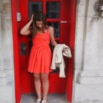 Orange Dress Red Door