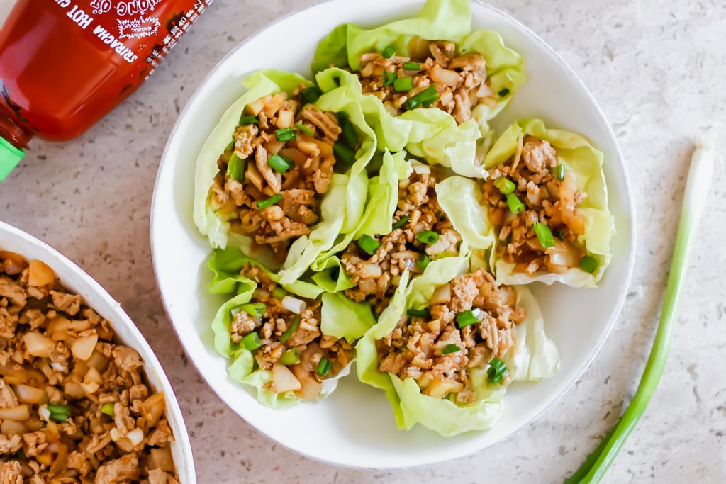 LSL is sharing a Ground Turkey Lettuce Wraps Recipe