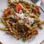Pesto with Roasted Tomatoes and Asparagus