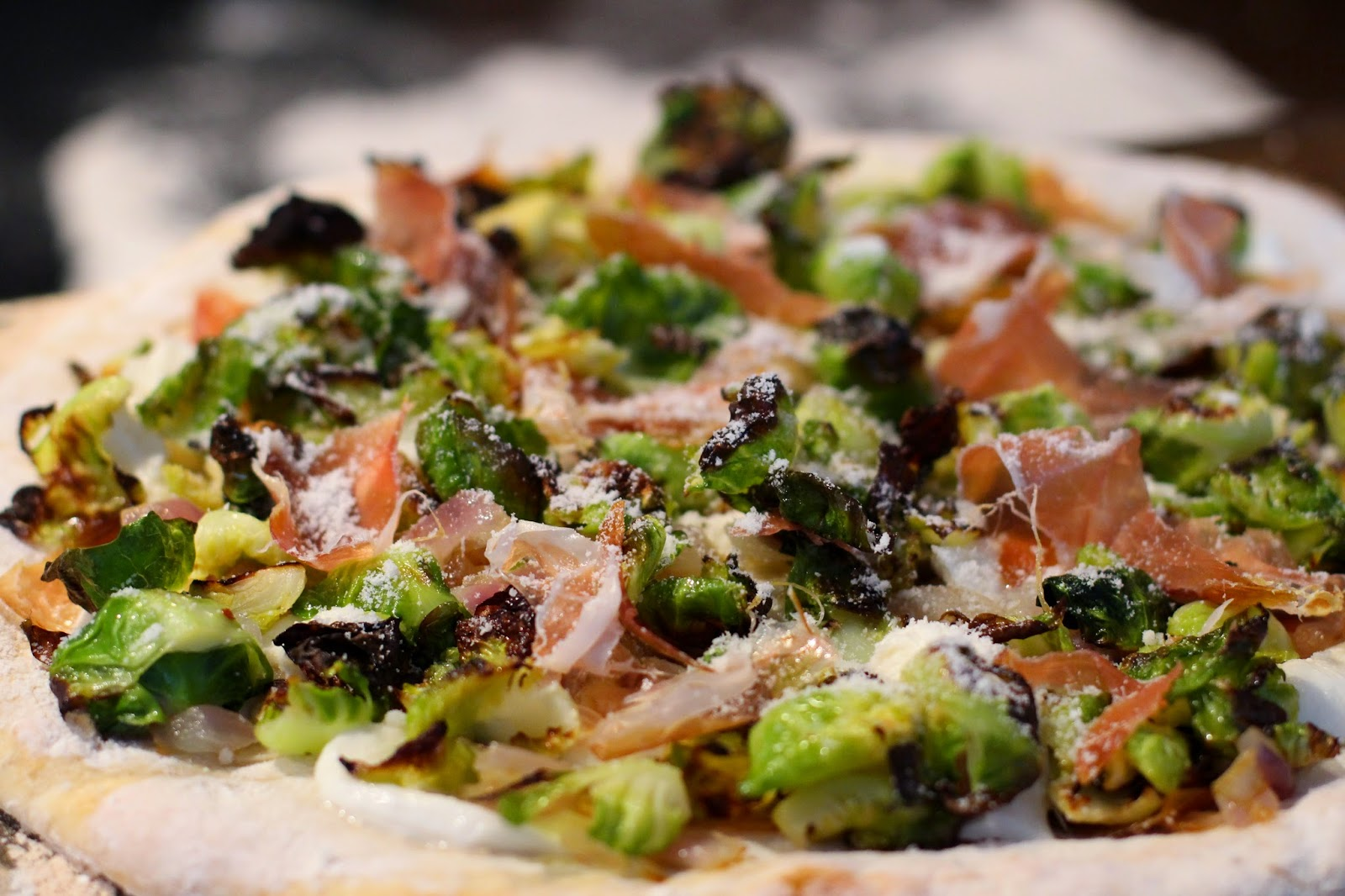 Brussels Sprouts and Prosciutto Pizza - Lake Shore Lady