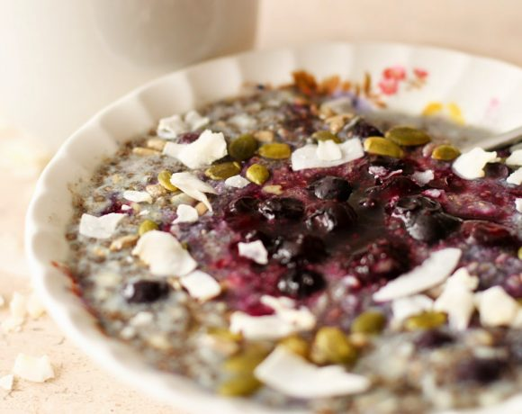 Blueberry Overnight Chia & Oats