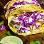 Fish Tacos with Cilantro Lime Sauce