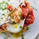 Spaghetti Squash with Chunky Tomato Sauce and Egg