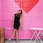 Black Dress | Pink Wall