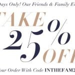 Shopbop Friends & Family