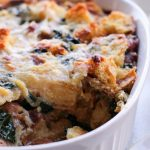 Cheesy Kale Breakfast Strata