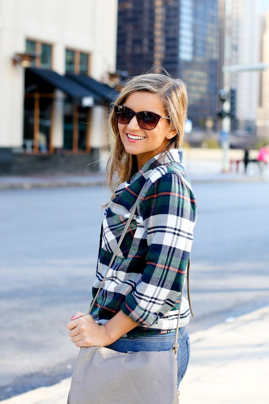 206df75cab7d Shirt: Rails | Sunglasses: Burburry c/o Endless Eyewear (use code  LAKESHORELADY for a free month) | Necklace: c/o Samantha Faye | Bag: Marc  by Marc Jacobs ...