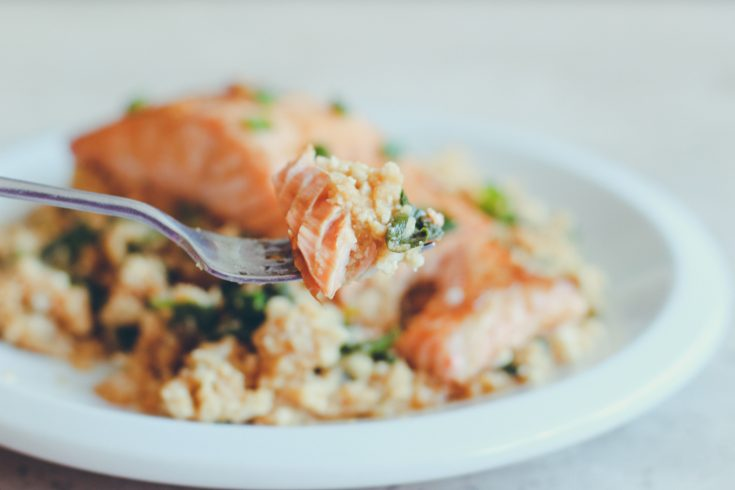 Ginger Garlic Salmon with Cauliflower Rice