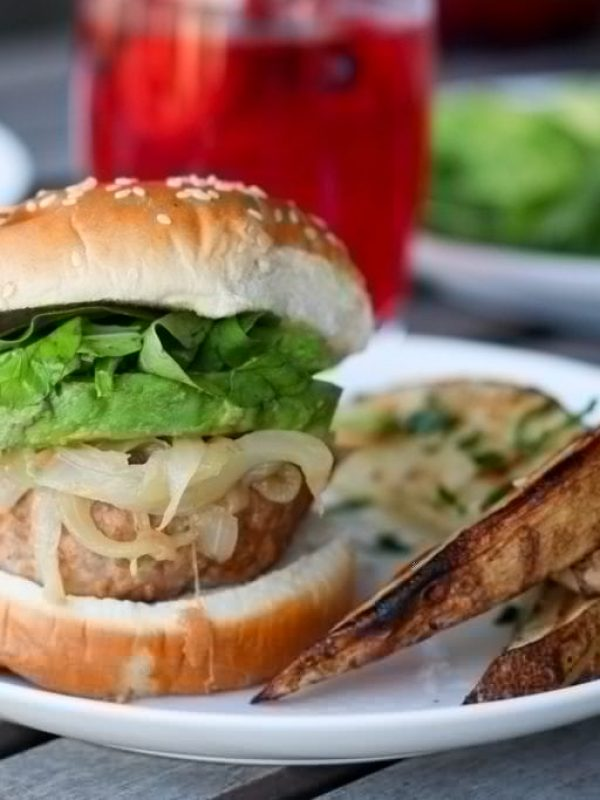grilled-turkey-burgers-caramelized-onions-avocado-arugula-4