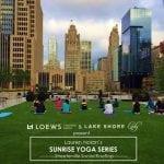 Loews Chicago + Lake Shore Lady Yoga Series!