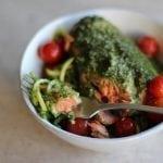 Pesto Salmon and Zoodles