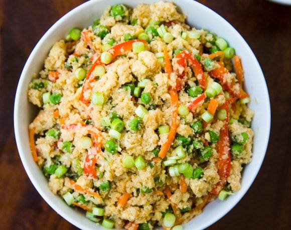 Cauliflower Fried Rice [Cooking Video]