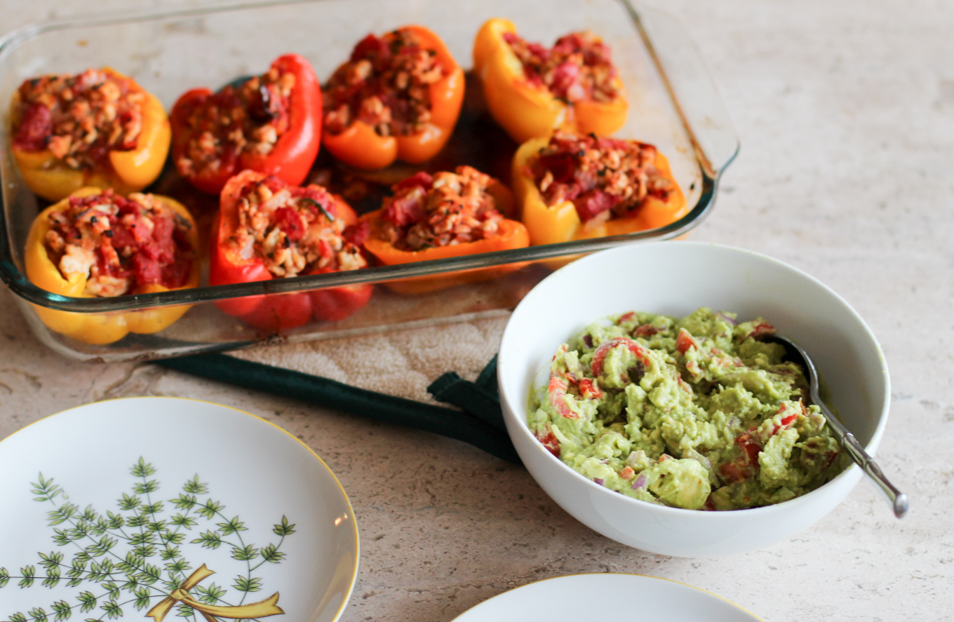 Whole30 Stuffed Peppers - Lake Shore Lady