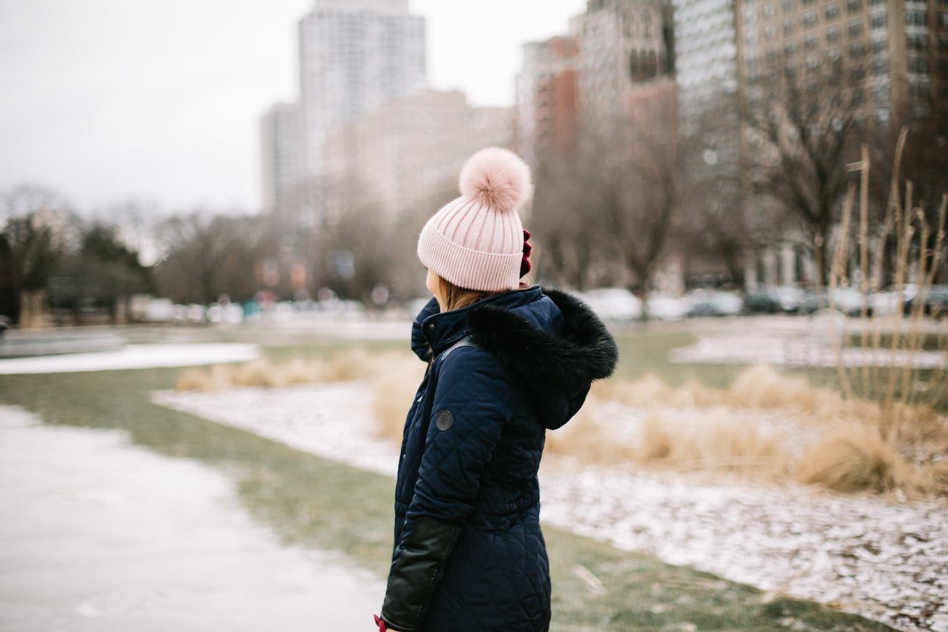 Pom Pom Hat (and a reader survey!) - Lake Shore Lady