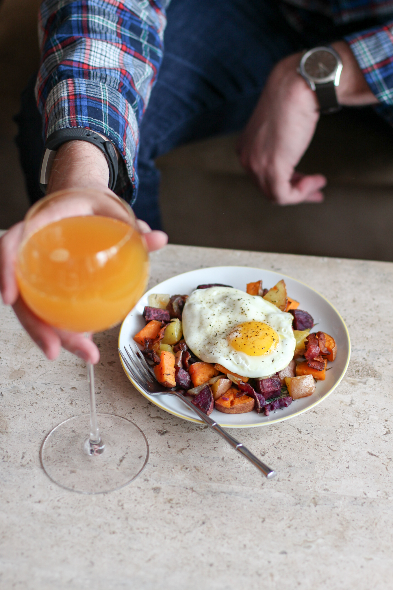 Powell & Mahoney Peach Bellinis + Colorful Potato Hash - Lake Shore Lady