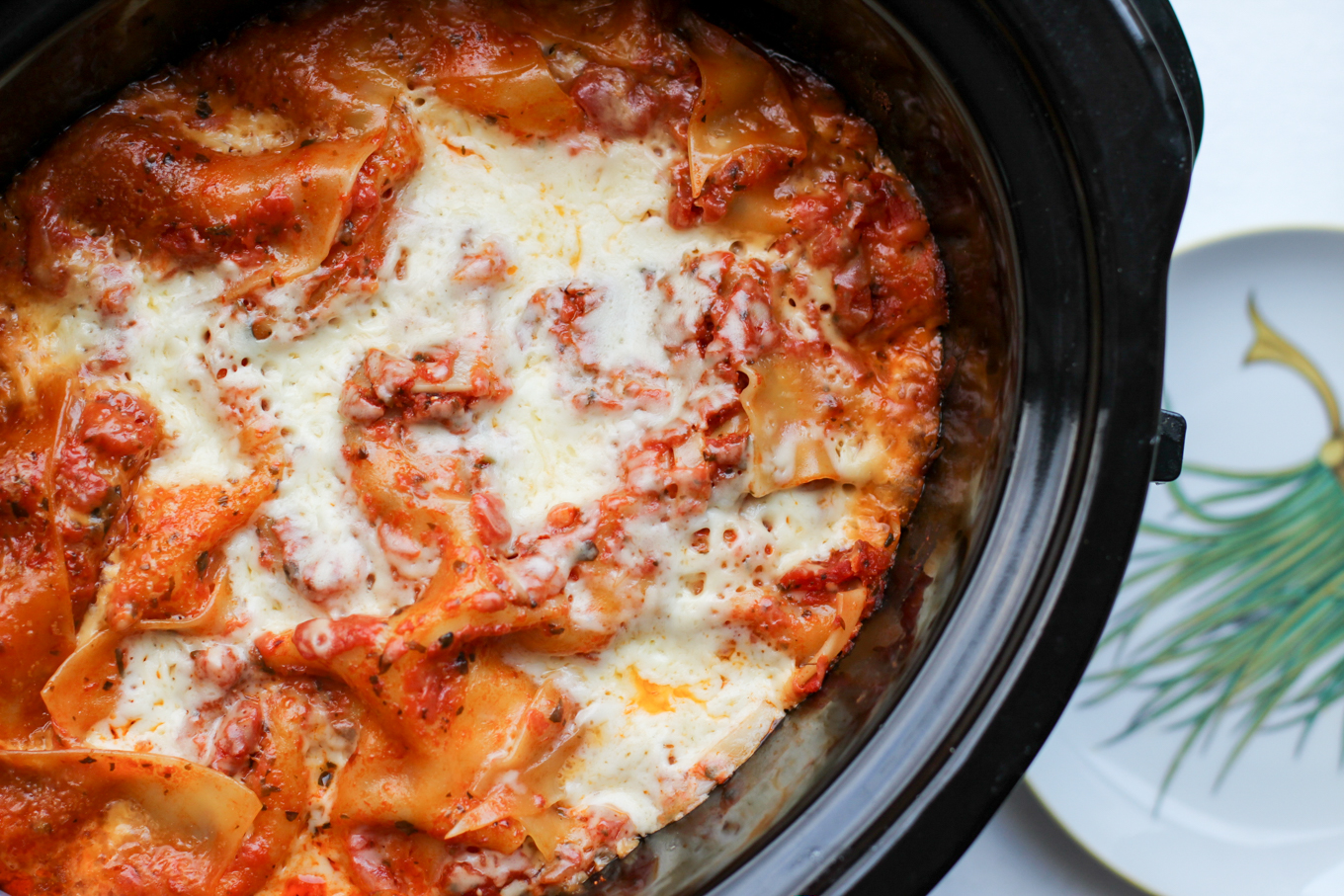 Crock Pot Lasagna with Zucchini - Lake Shore Lady
