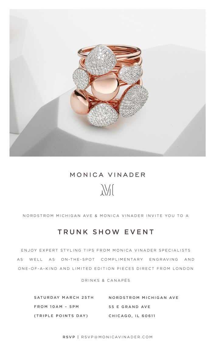 Monica Vindar Trunk Show at Nordstrom - Lake Shore Lady