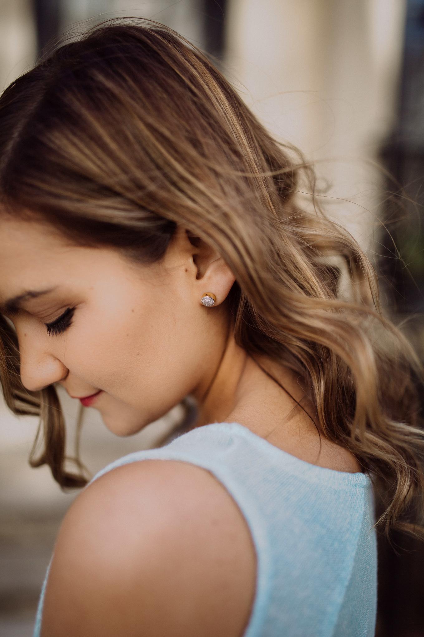 Monica Vinader Diamond Earrings - Lake Shore Lady
