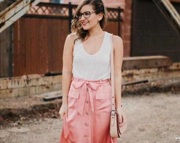 Flirting with a Midi Skirt