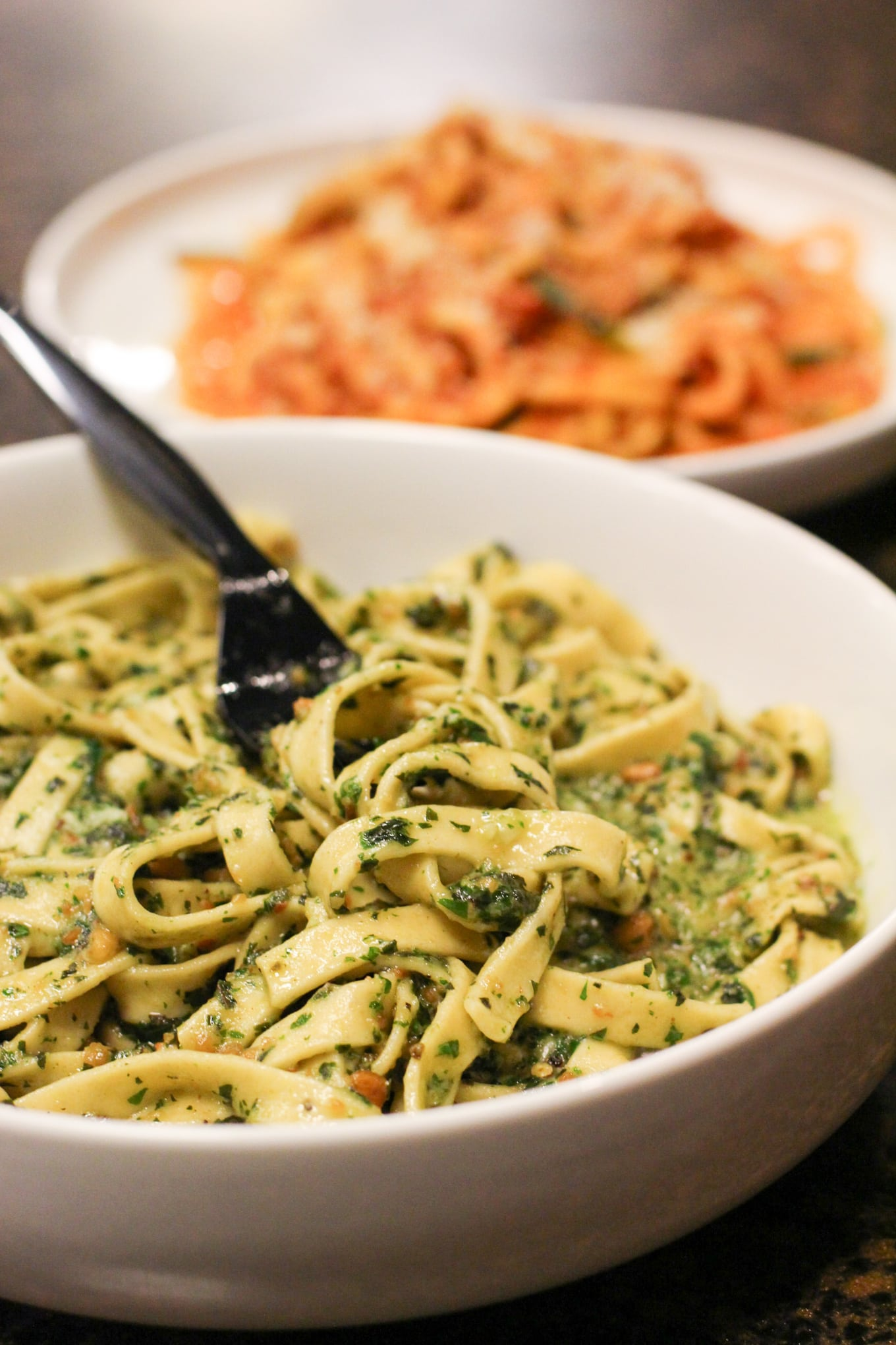 Fabio Viviani's Homemade Fettuccine with Pesto - Lake Shore Lady