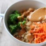 Veggie Quinoa Bowl with Peanut Sauce