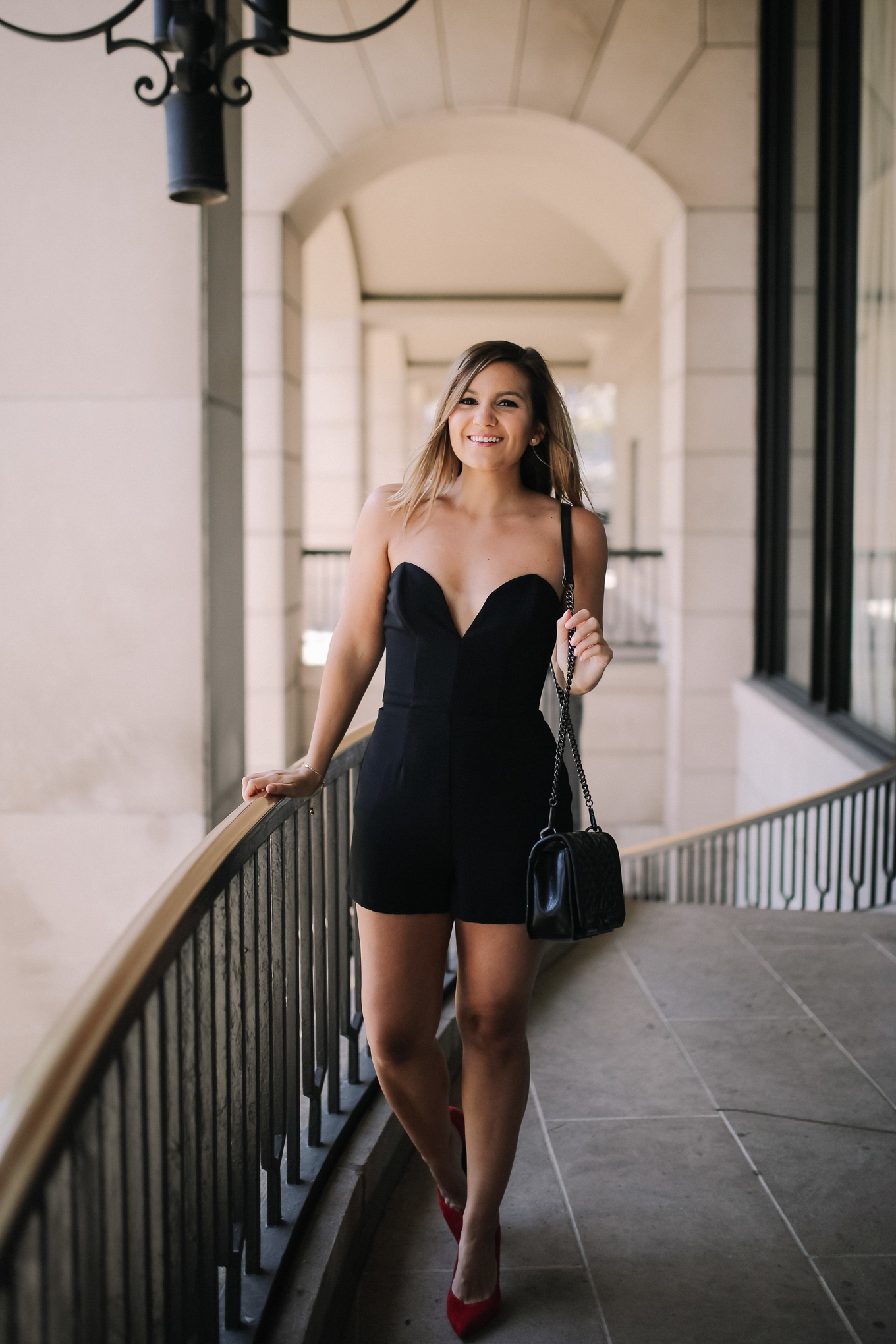 Lake Shore Lady's 30th Birthday Outfit | Amanda Uprichard Cherri Romper