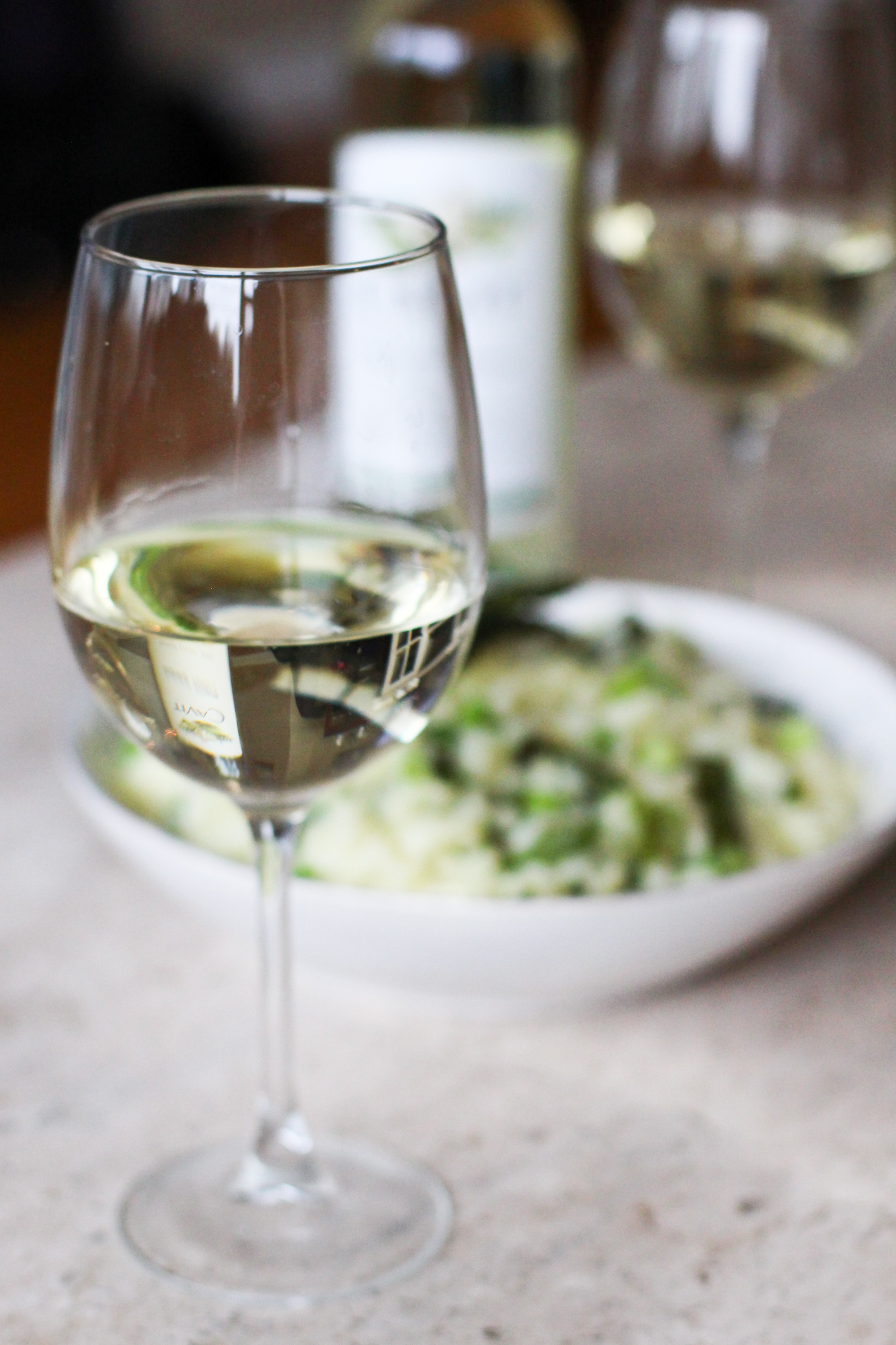 Spring Vegetable Risotto and Cavit Pinto Grigio - Lake Shore Lady #NationalPinotGrigioDay