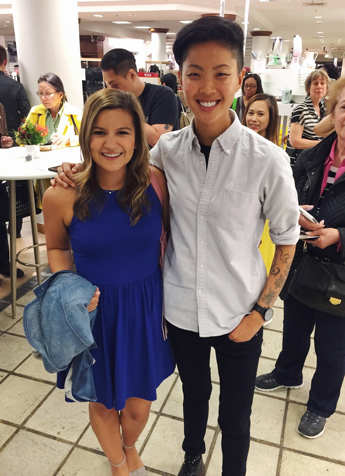Kristen Kish from Top Chef at Macy's in Chicago - Lake Shore Lady
