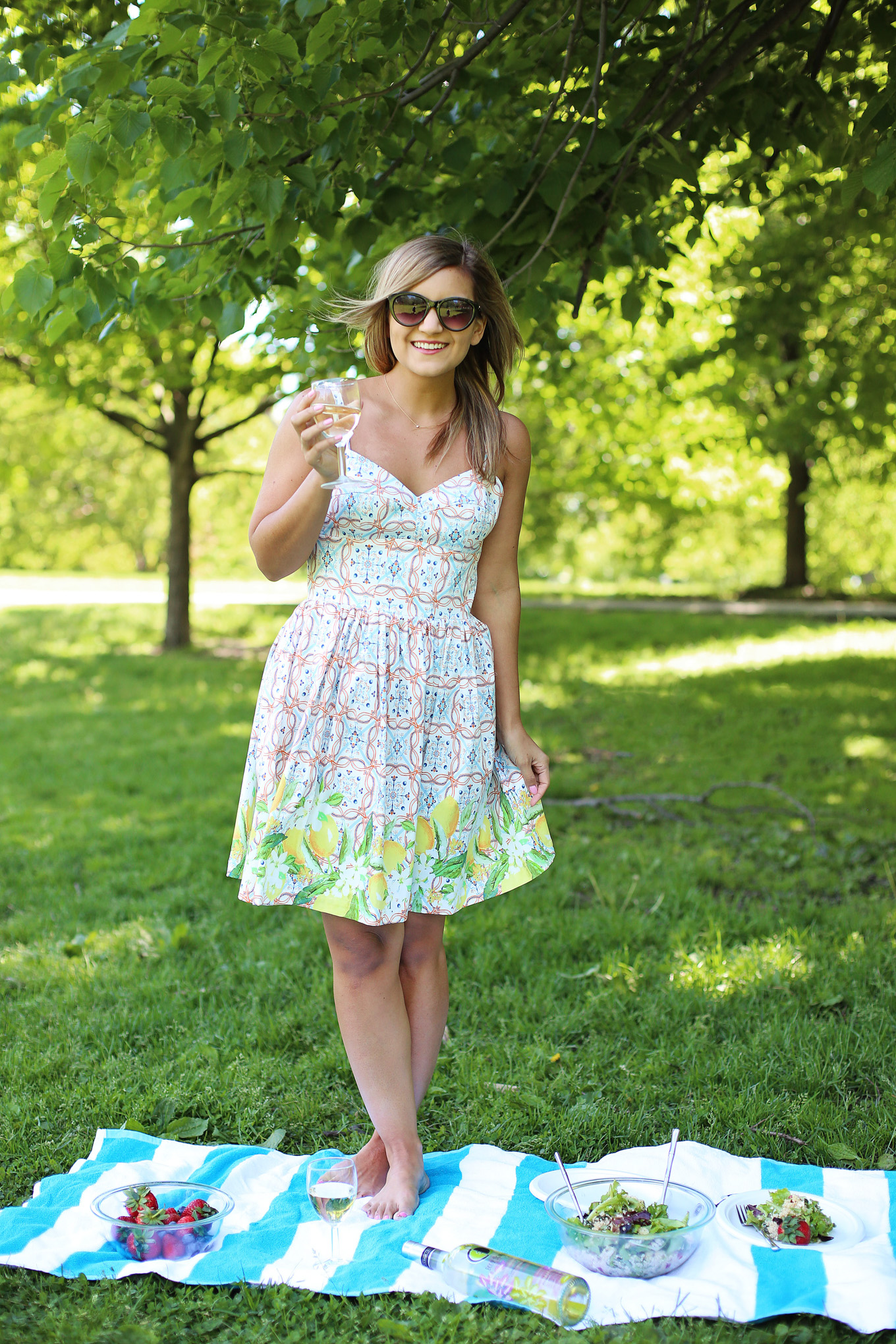 Ecco Domani x Christian Siriano Pinot Grigio + the cutest Lemon Print Dress - Lake Shore Lady