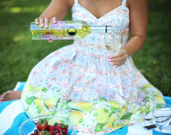 The Prettiest Wine + a Lemon Print Dress
