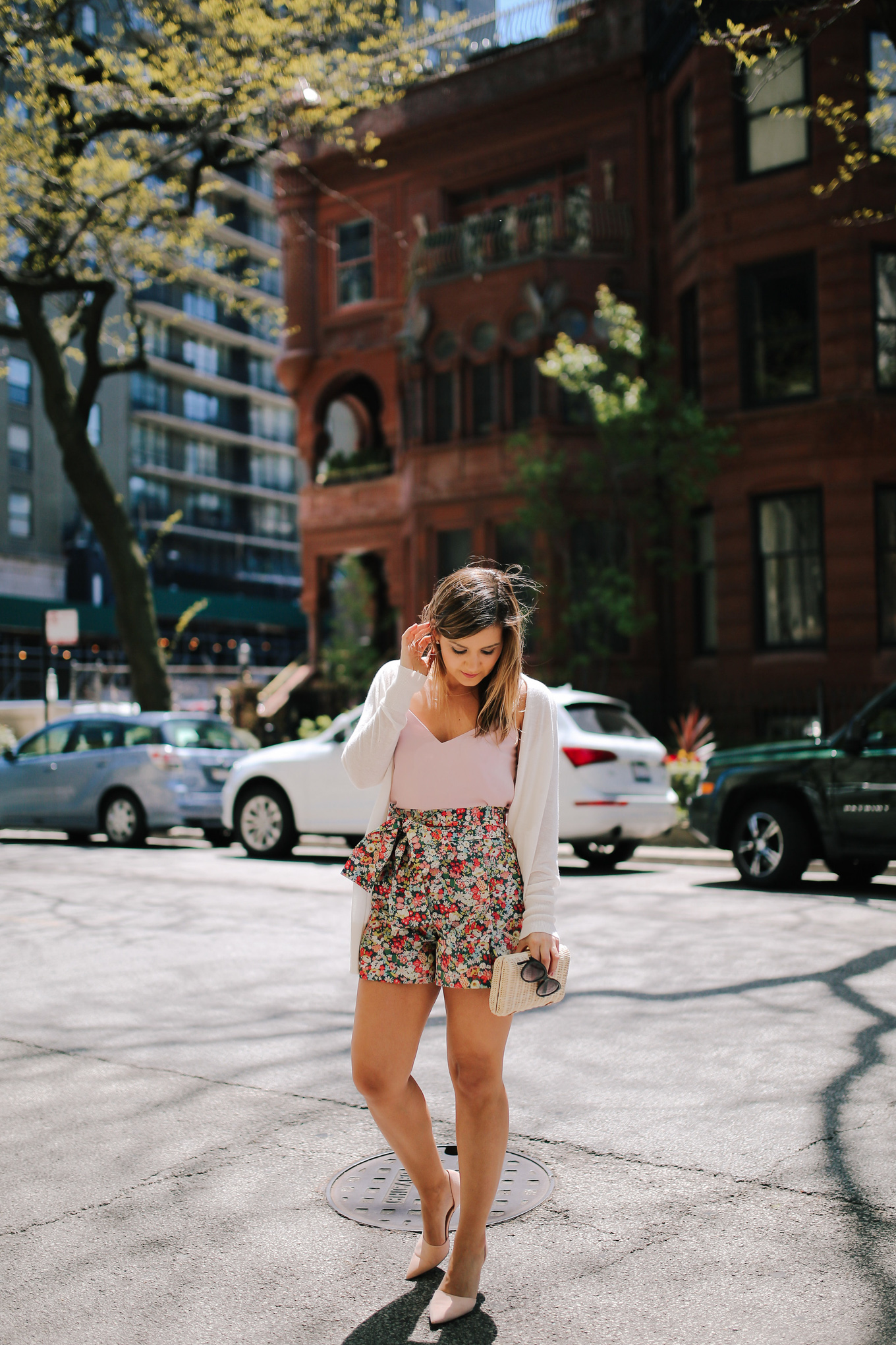 Tie Waist Floral Shorts - Lake Shore Lady