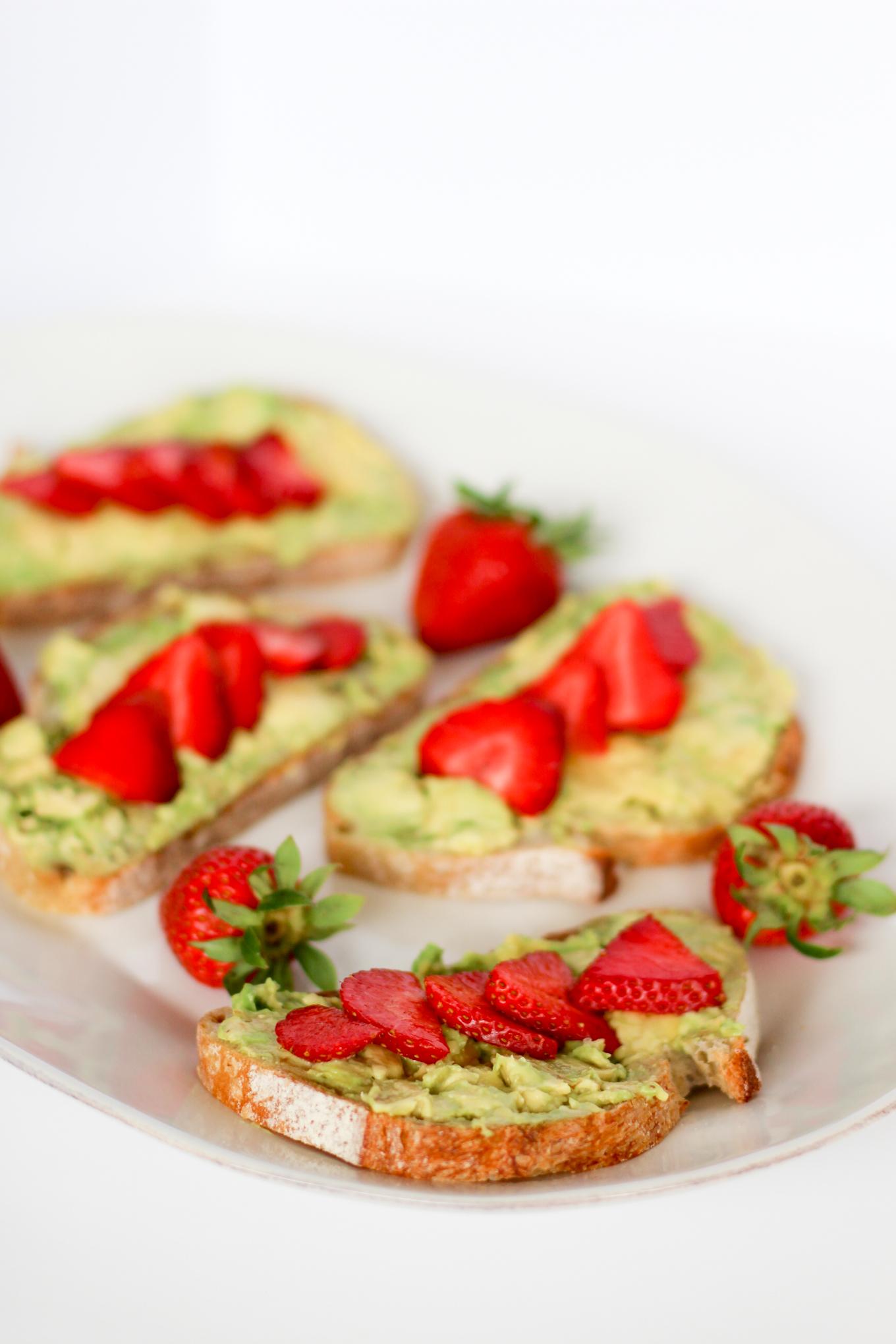 Strawberry Avocado Toast - Lake Shore Lady
