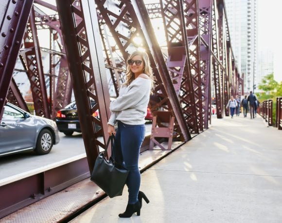 When in doubt: sweater + jeans + booties