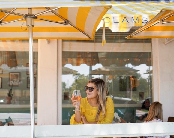 Coffee and Wine with the Perfect Yellow Blouse