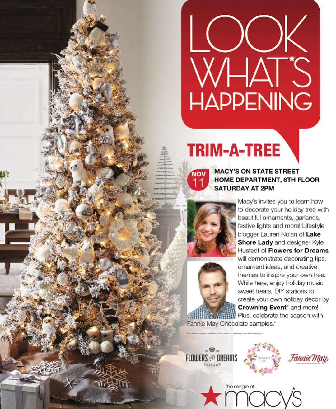 Trim a Tree Macy's Event