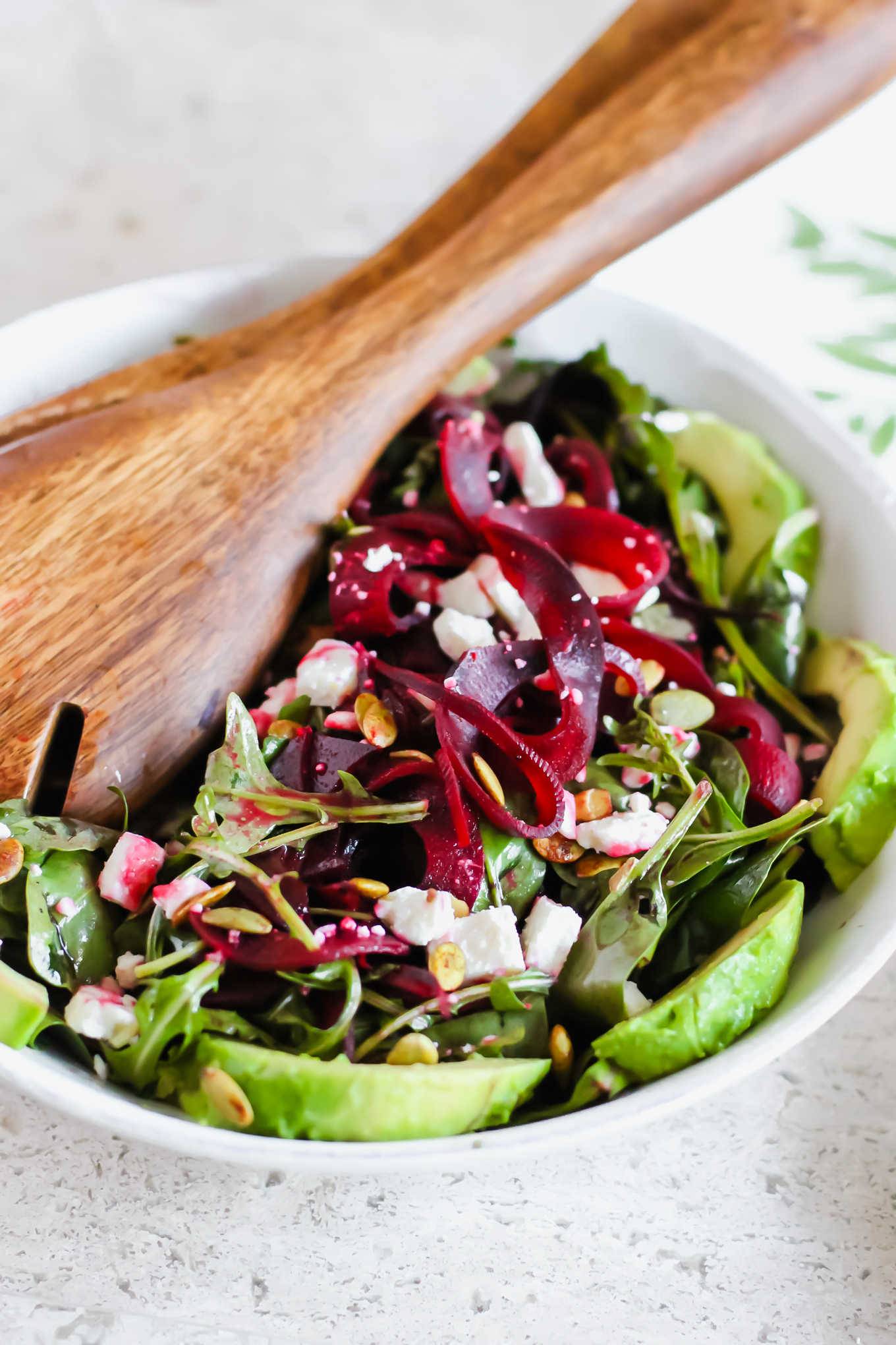 spiralized beet salad