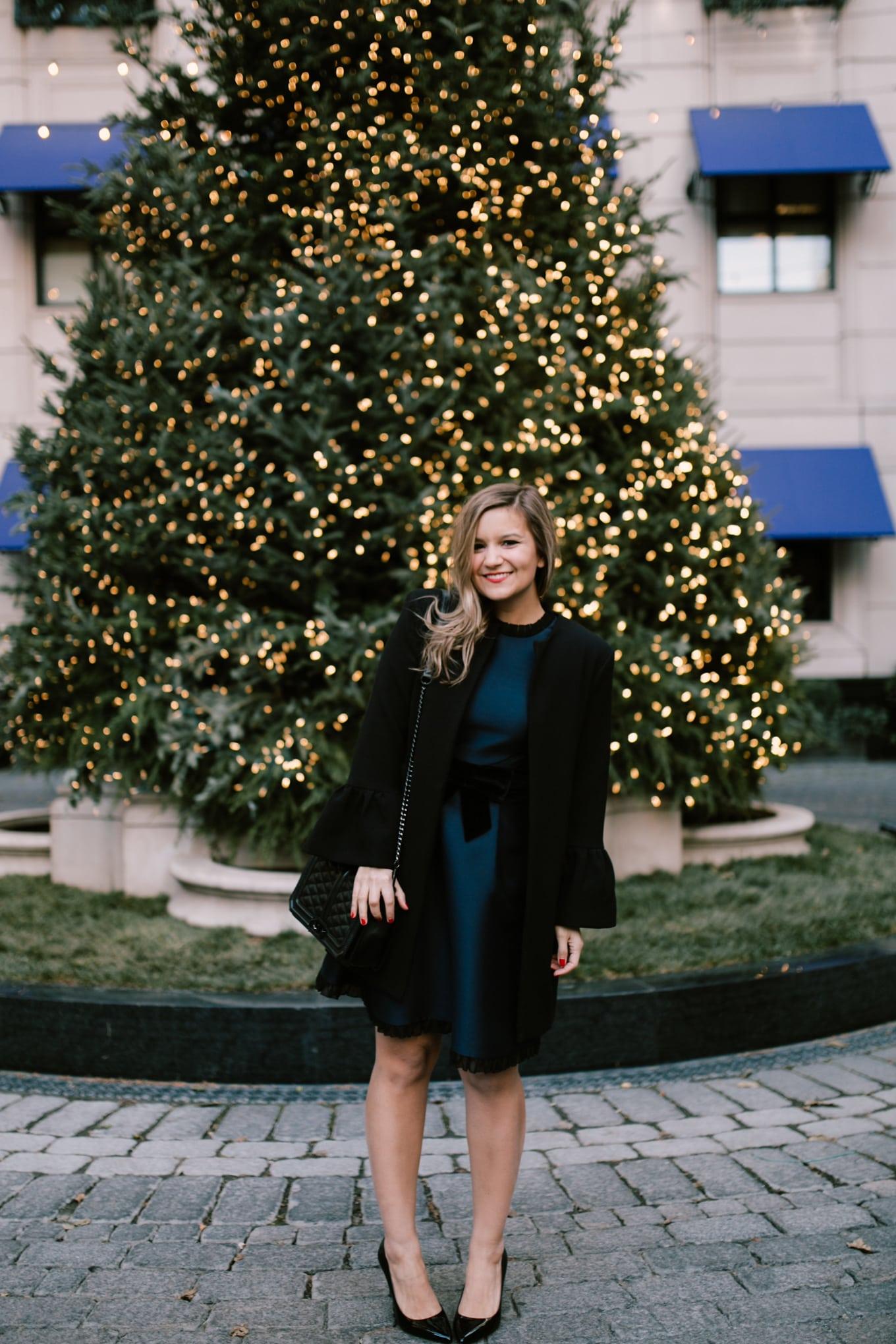 Christmas dress Kate Spade velvet bow dress