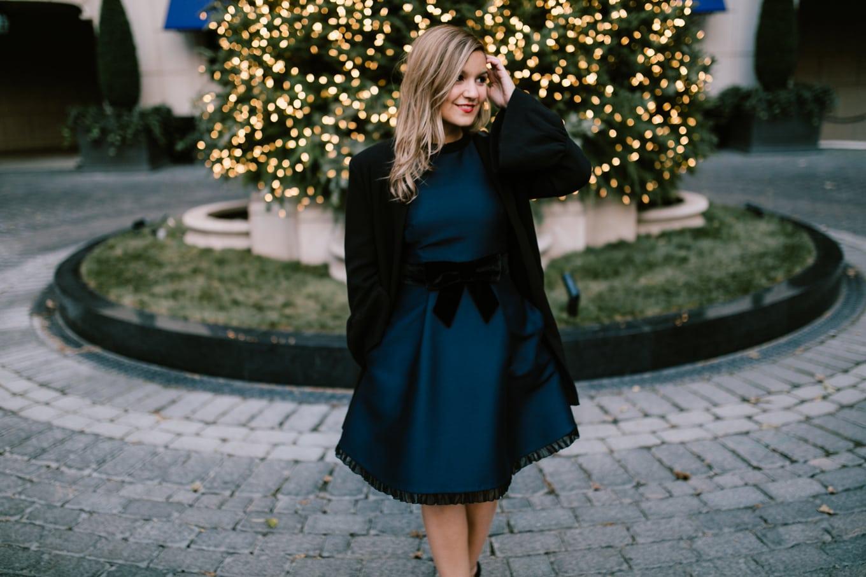 Kate Spade velvet bow dress