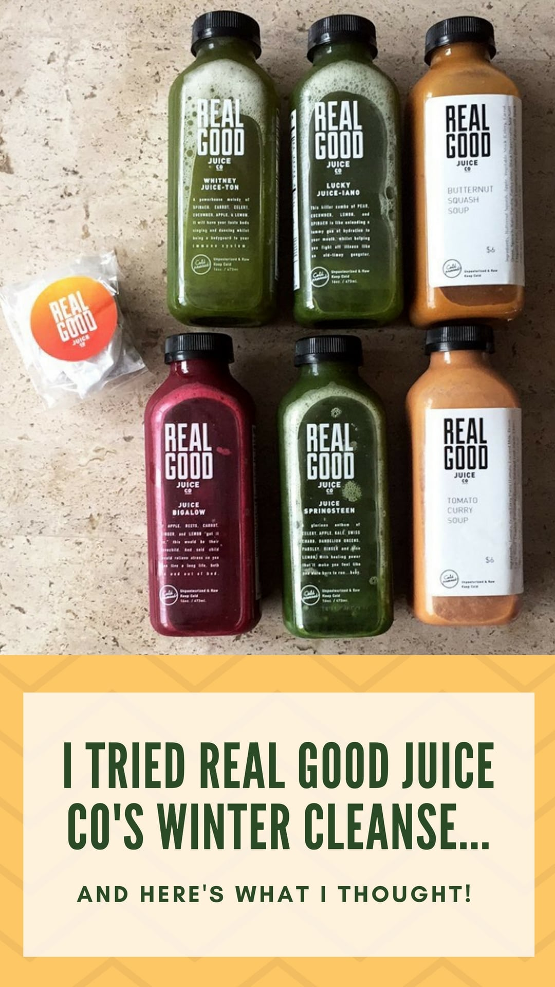 Real Good Juice Co 3 Day Soup and Juice Cleanse