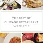 The Best of Chicago Restaurant Week 2018